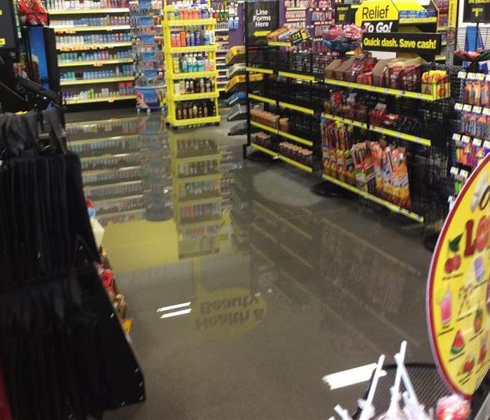 Flooded store